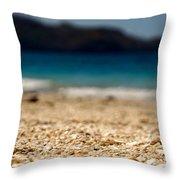 Dreamy Shell Beach Throw Pillow