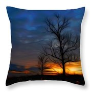 Dreamy Sunset Throw Pillow by Ella Char