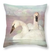 Dreamy Swans #1 Throw Pillow