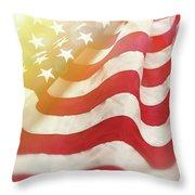 Dreamy Usa Flag 1 Throw Pillow