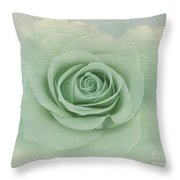 Dreamy Vintage Floating Rose Throw Pillow