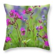 Dreamy Wildflowers Throw Pillow