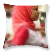 Dreamy Woman Throw Pillow