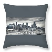 Dreary Denver Throw Pillow