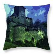 Dreary Fortress Throw Pillow
