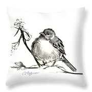Dregs Of Winter Throw Pillow