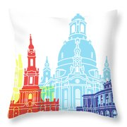 Dresden Skyline Pop Throw Pillow