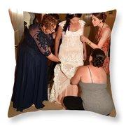 Dress Help Throw Pillow