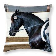 Dressage Horse Show Throw Pillow