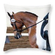Dressage Show Horse Throw Pillow