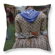 Dressed For America Throw Pillow