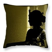 Dressed For The Corrida Goyesca Throw Pillow