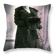 Dressed In Fur Throw Pillow
