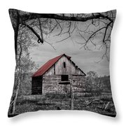 Dressed In Red Throw Pillow