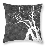 Dressed In Winter White Throw Pillow