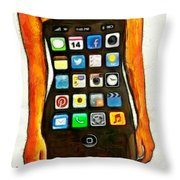 Dressing Iphone Throw Pillow