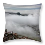 Drfiting Fog Throw Pillow