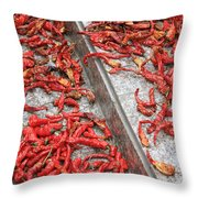 Dried Chili Peppers Throw Pillow