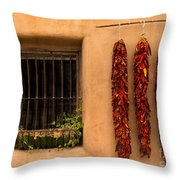 Dried Chilis And Window Throw Pillow
