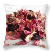 Dried Organic Carnation Petals Throw Pillow