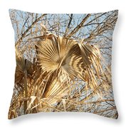 Dried Palm Fronds In The Wind Throw Pillow
