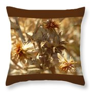 Dried Safflower Throw Pillow