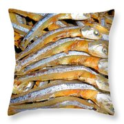 Dried Small Fish 3 Throw Pillow