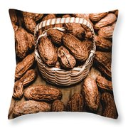 Dried Whole Peanuts In Their Seedpods Throw Pillow