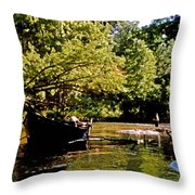 Driftboating Throw Pillow