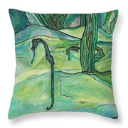 Drifting Seahorse Throw Pillow