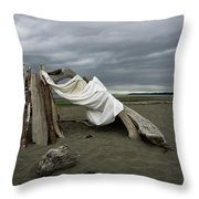 Drifts And Clouds Throw Pillow