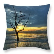 Driftwood Beach Sunrise Jekyll Island Georgia Throw Pillow