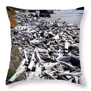Driftwood By The Ton Throw Pillow
