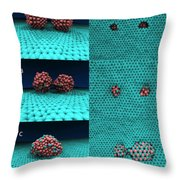 Drilling Of Graphene Nanoparticles Throw Pillow