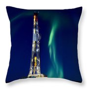 Drilling Rig Potash Mine Canada Throw Pillow