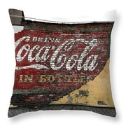 Drink Coca Cola In Bottles 2 Throw Pillow