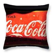 Drink Coke Throw Pillow
