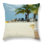 Drink In The Sand Throw Pillow