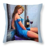 Drinking Alone Throw Pillow