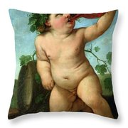 Drinking Bacchus Throw Pillow