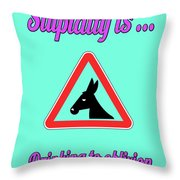 Drinking Bigstock Donkey 171252860 Throw Pillow