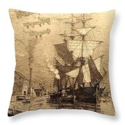 Drinking Rum Before Noon Throw Pillow
