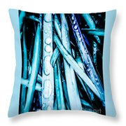 Dripping Teal Throw Pillow