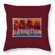 Dripping Tree #1 Throw Pillow