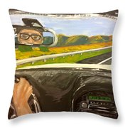 Drive Away Throw Pillow