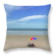 Drive By Beach Day Abmlo  Throw Pillow