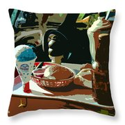 Drive In Throw Pillow