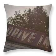 Drive In II Throw Pillow