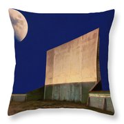 Drive-in Moon Throw Pillow