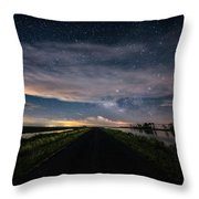 Drive Into The Wild Throw Pillow